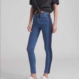 Rag & Bone Mazie High Waist Striped Jeans NEW